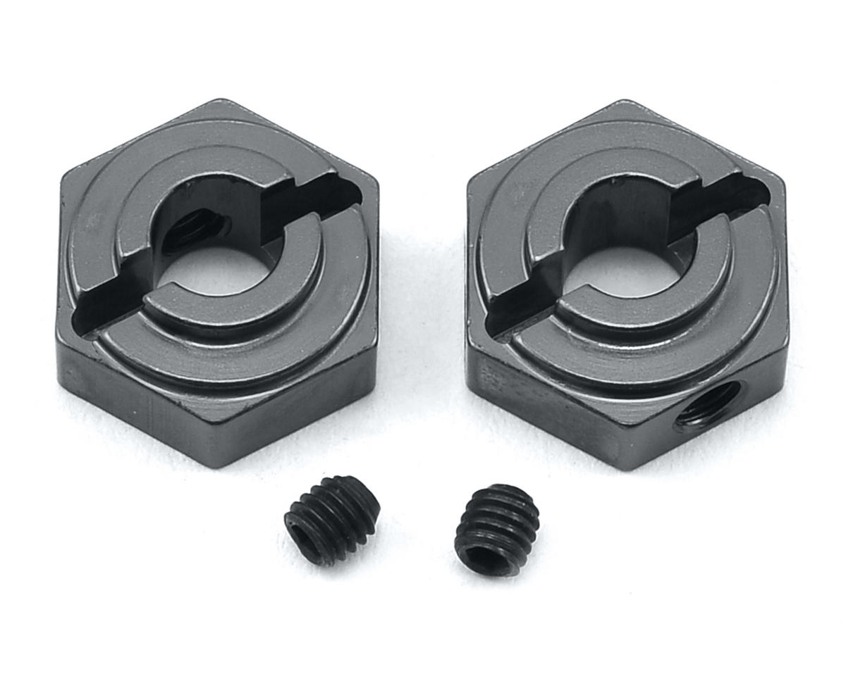 Arrma Aluminum Rear Hex Adapters (2) (Gun Metal) by ST Racing Concepts