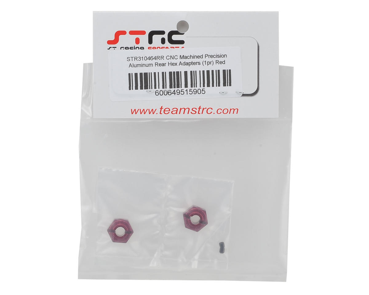 ST Racing Concepts Arrma Aluminum Rear Hex Adapters (2) (Red)