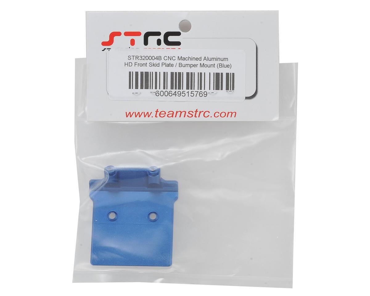 ST Racing Concepts Arrma Aluminum Front Skid Plate/Bumper Mount (Blue)