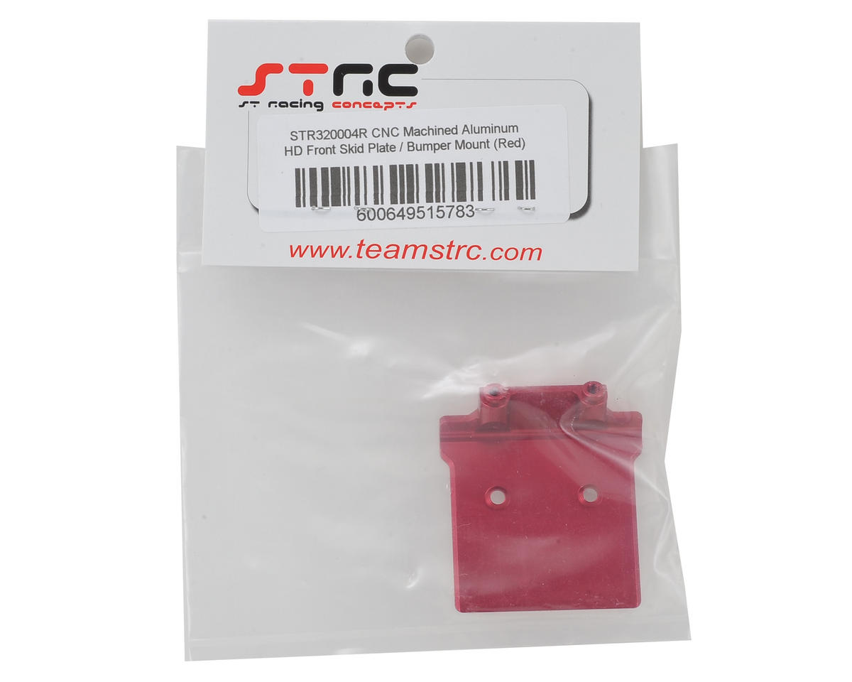 ST Racing Concepts Arrma Aluminum Front Skid Plate/Bumper Mount (Red)