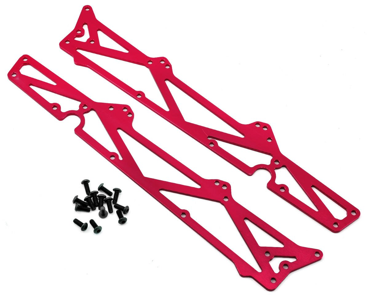 ST Racing Concepts Arrma Aluminum TVP Chassis Side Plates w/Hardware (2) (Red)