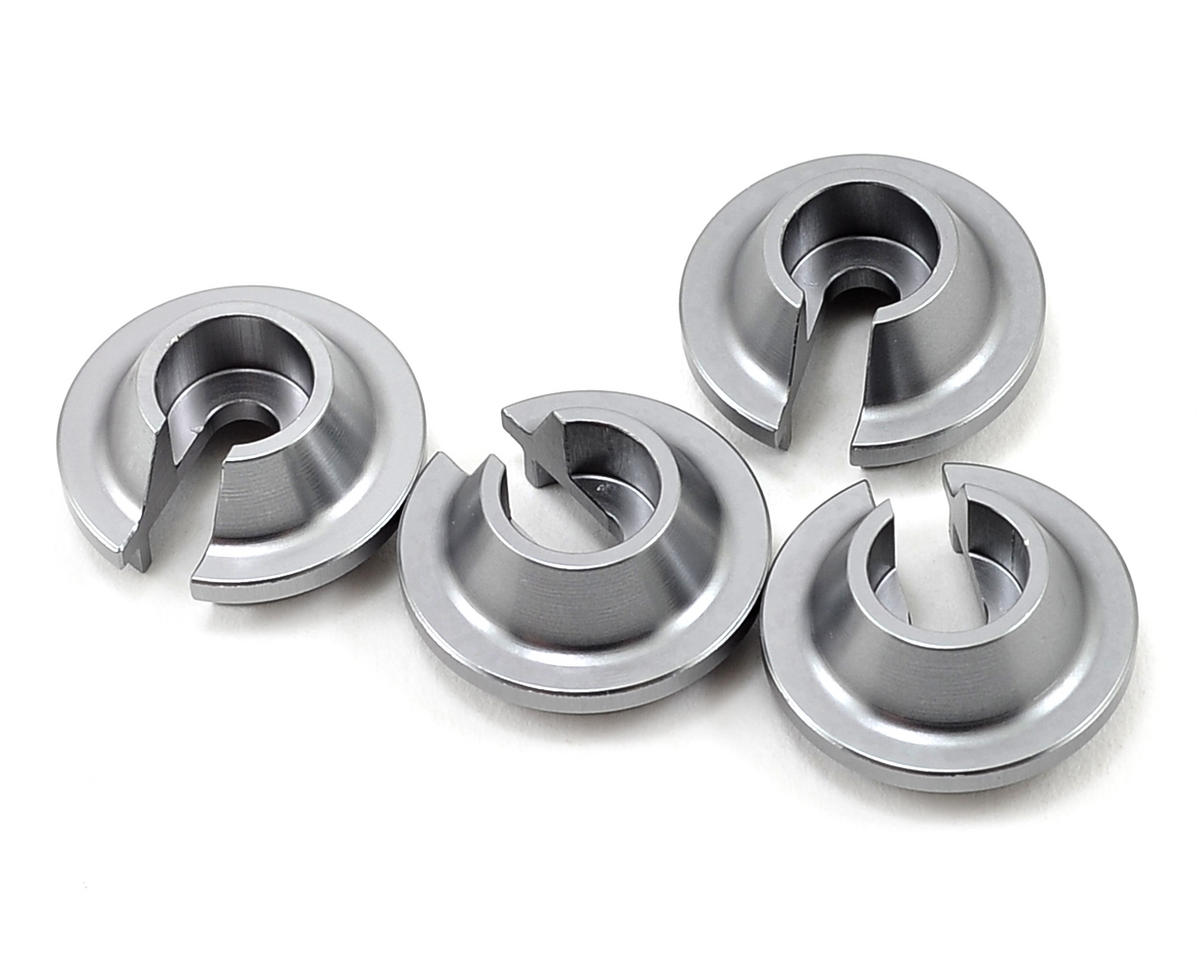 ST Racing Concepts Aluminum Shock Spring Retainer (4) (Gun Metal)