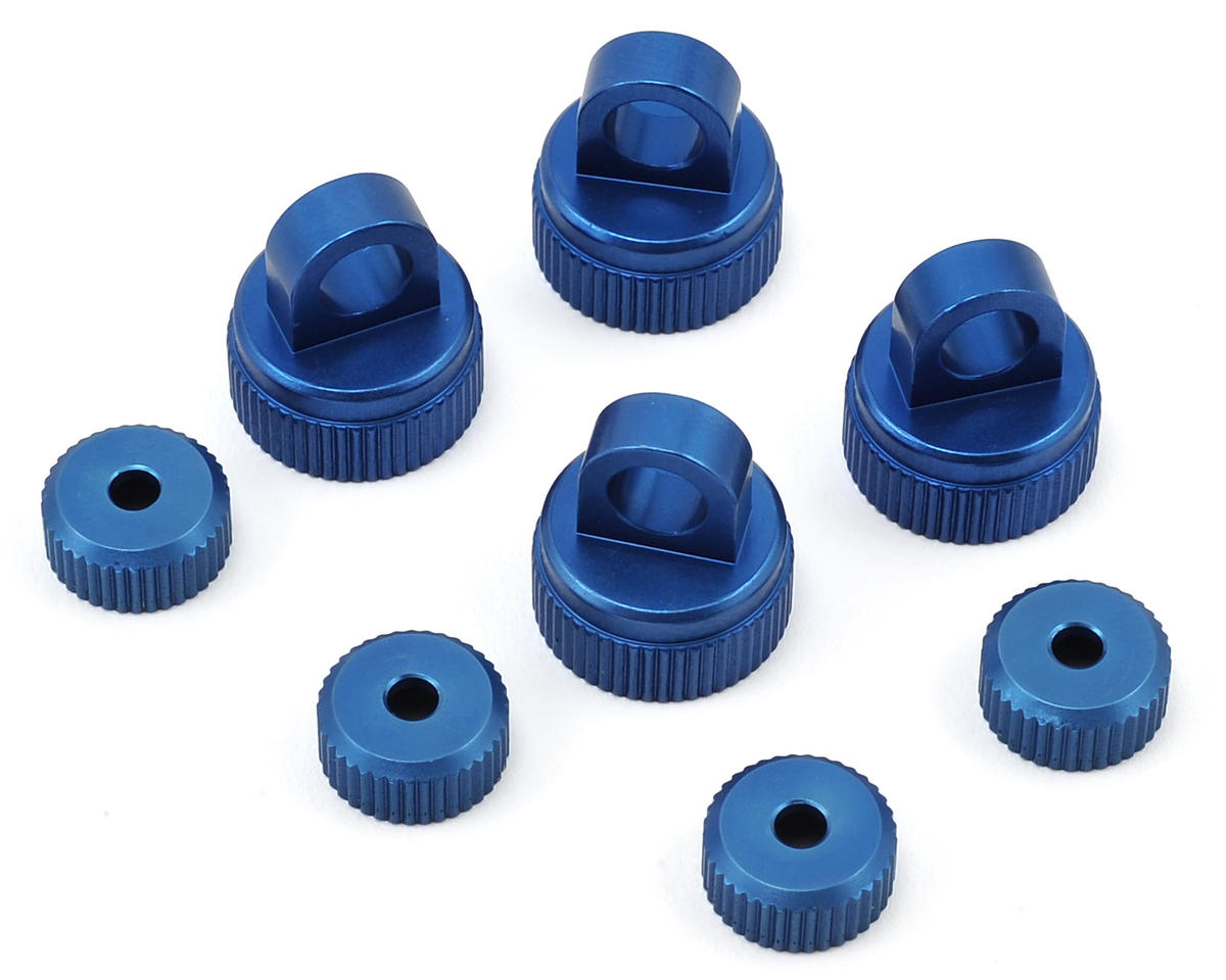 ST Racing Concepts Arrma Raider Aluminum Upper & Lower Shock Caps (Blue)