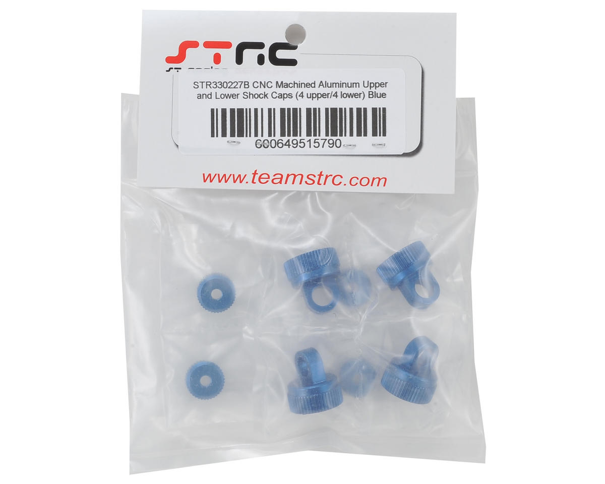 ST Racing Concepts Arrma Aluminum Upper & Lower Shock Caps (Blue)