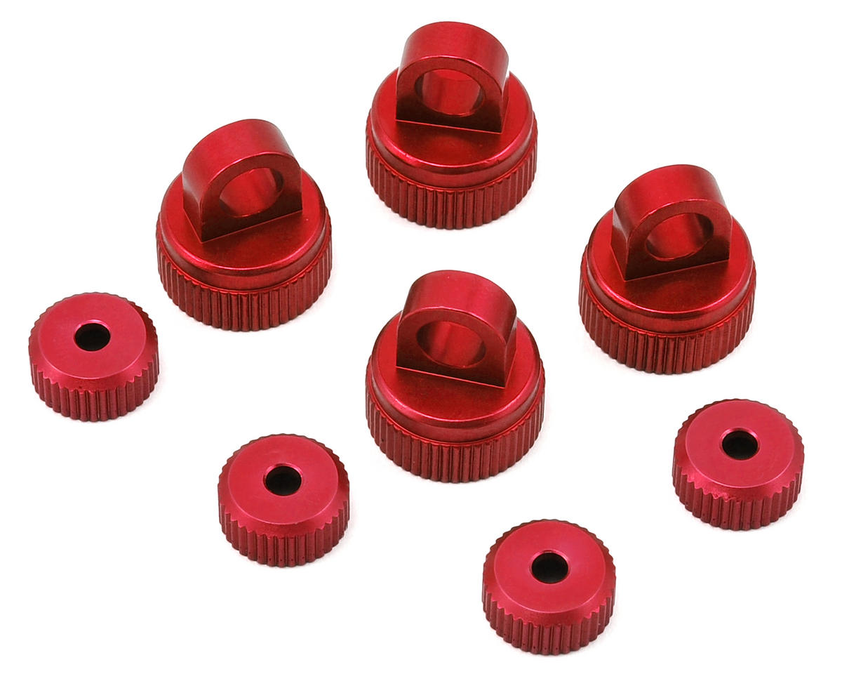 Arrma Aluminum Upper & Lower Shock Caps (Red) by ST Racing Concepts