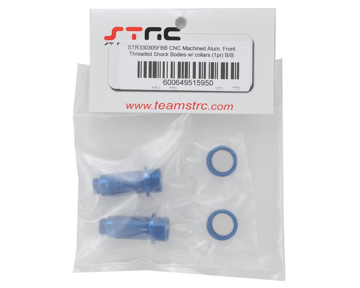 ST Racing Concepts Arrma Aluminum Front Threaded Shock Bodies (2) (Blue)