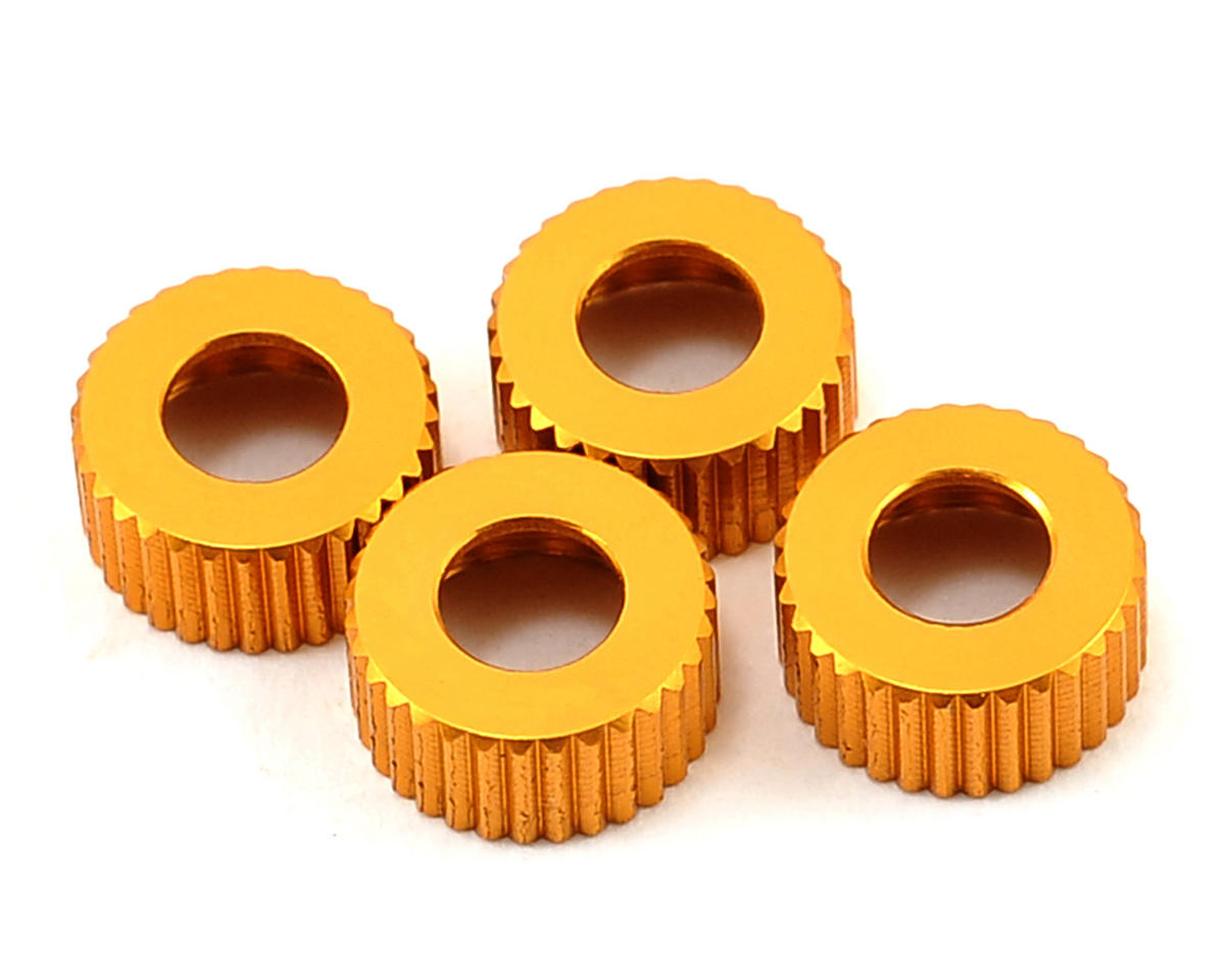 ST Racing Concepts Aluminum Lower Shock Caps (4) (Gold)