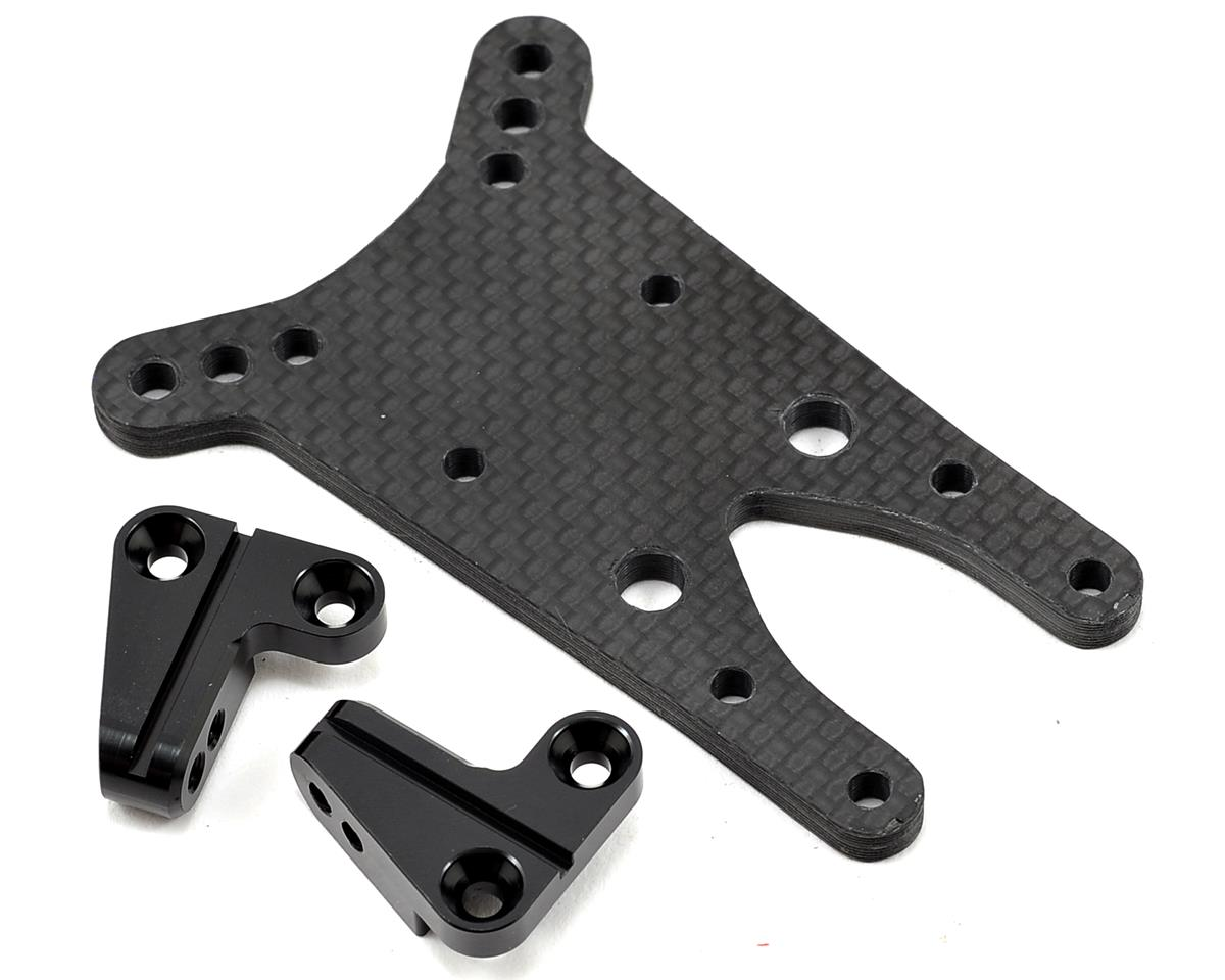 ST Racing Concepts 4mm Graphite Front Shock Tower w/Aluminum Standoff (Black) (Team Durango DESC210R)