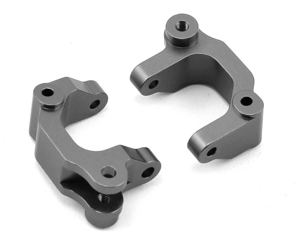 ST Racing Concepts Arrma Aluminum Heavy Duty Front Caster Block (2) (Gun Metal)