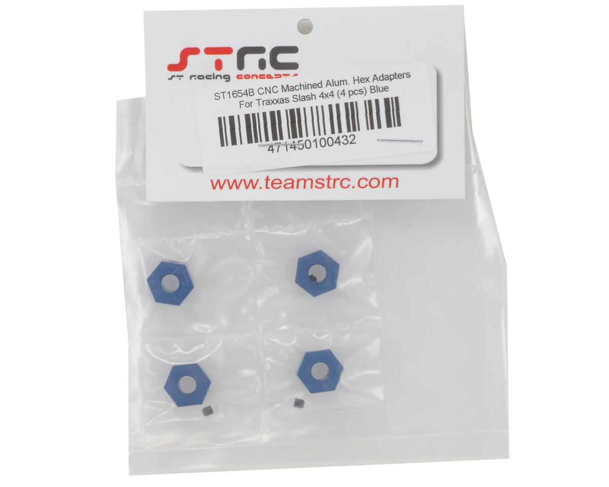 ST Racing Concepts 12mm Aluminum Hex Adapters (Blue) (4) (Slash 4x4)