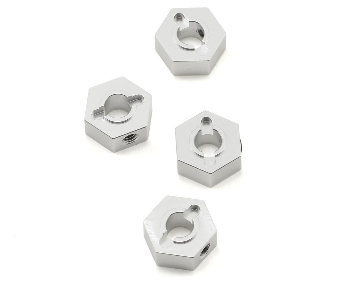ST Racing Concepts 12mm Aluminum Hex Adapters (Silver) (4) (Slash 4x4)