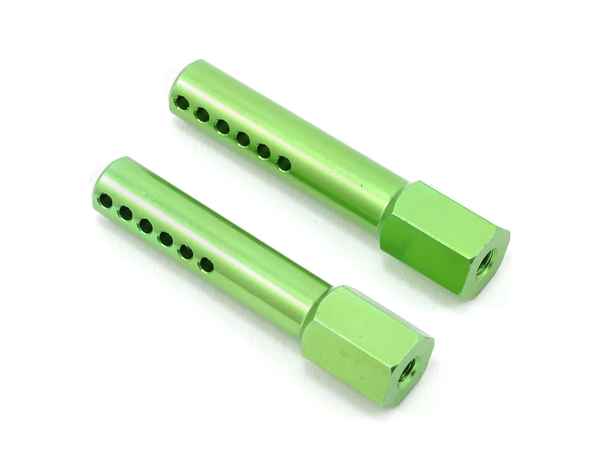 Aluminum Front Body Post Set (Green) (2) by ST Racing Concepts