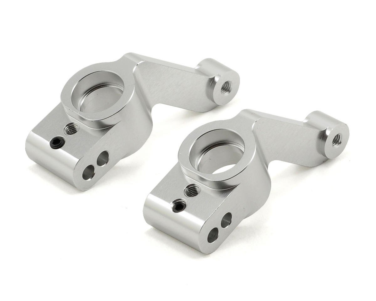 Aluminum Rear Hub Carriers (Silver) (2) (Slash 4x4) by ST Racing Concepts