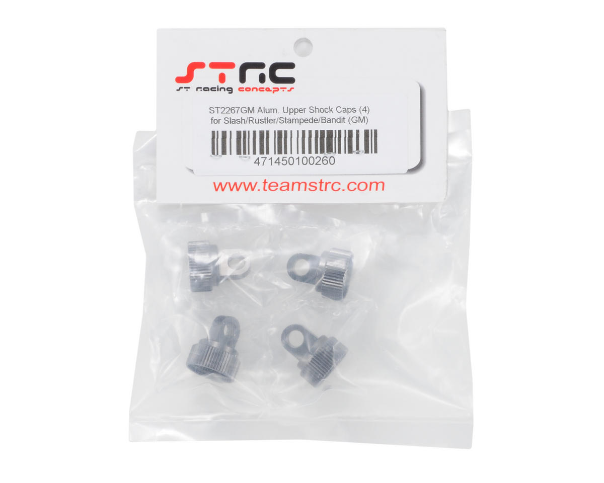 ST Racing Concepts Aluminum Shock Cap (Gun Metal) (4)