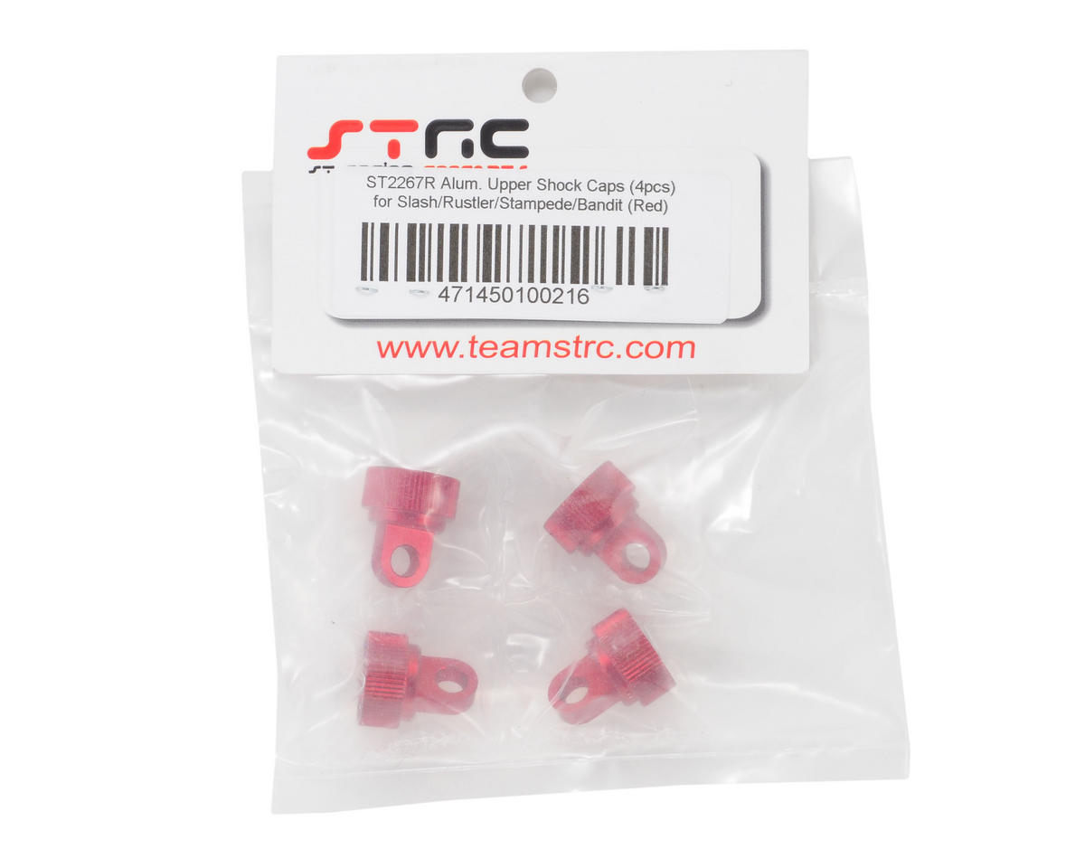 Aluminum Shock Cap (Red) (4) by ST Racing Concepts