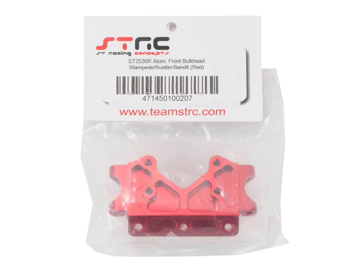 Aluminum Front Bulkhead (Red) by ST Racing Concepts