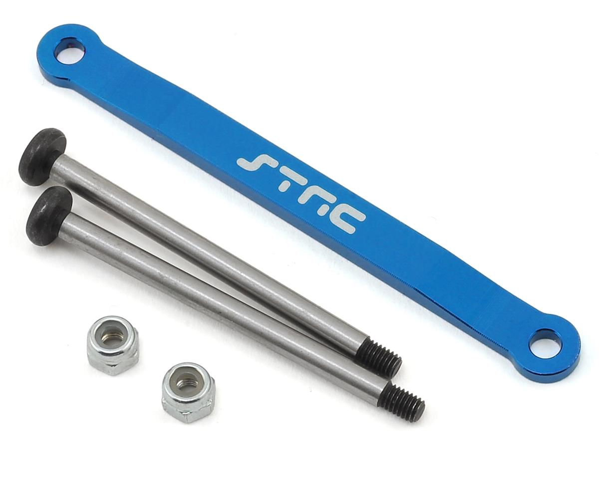 Stampede/Bigfoot Aluminum Front Hinge Pin Brace (Blue) by ST Racing Concepts