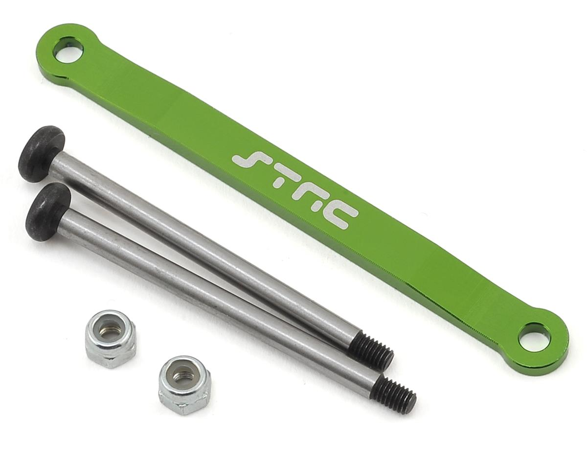 Stampede/Bigfoot Aluminum Front Hinge Pin Brace (Green) by ST Racing Concepts