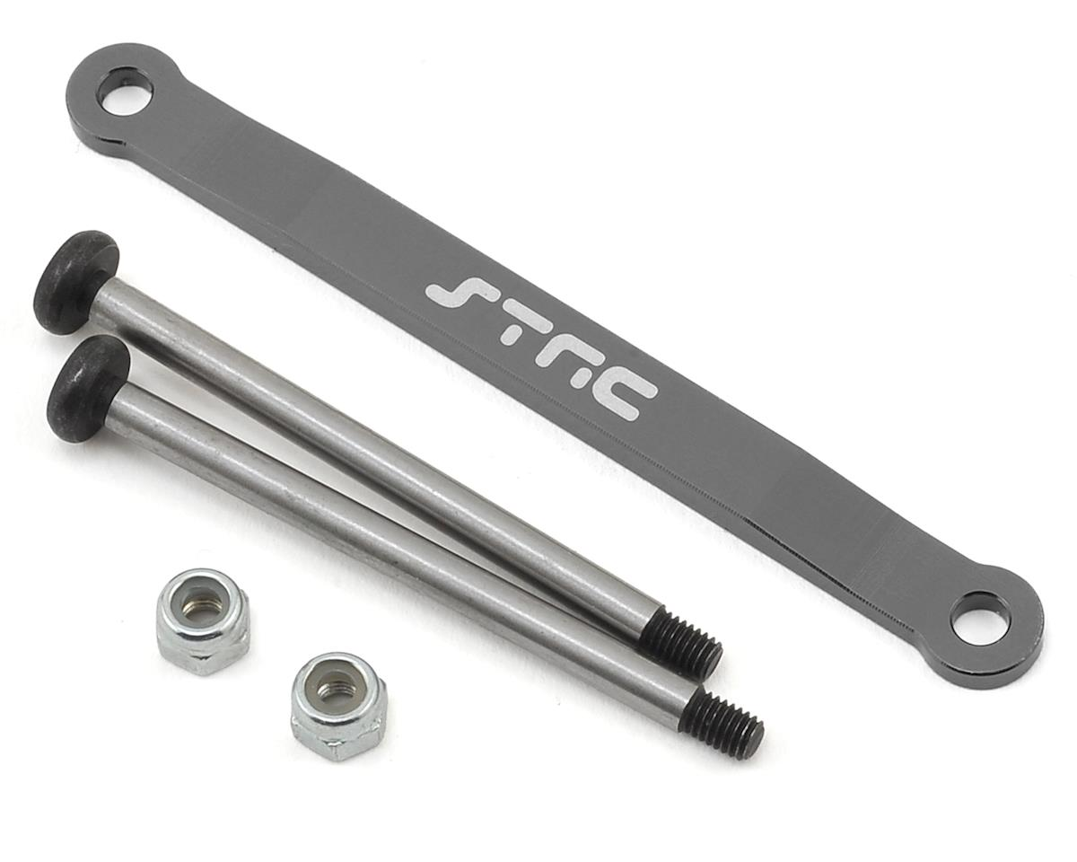 Stampede/Bigfoot Aluminum Front Hinge Pin Brace (Gun Metal) by ST Racing Concepts