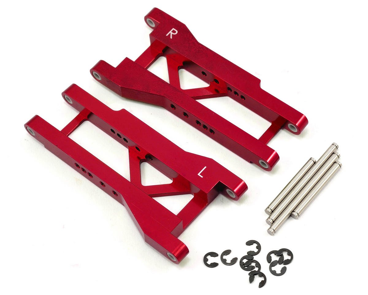 Aluminum Rear A-Arm Set (Red) by ST Racing Concepts