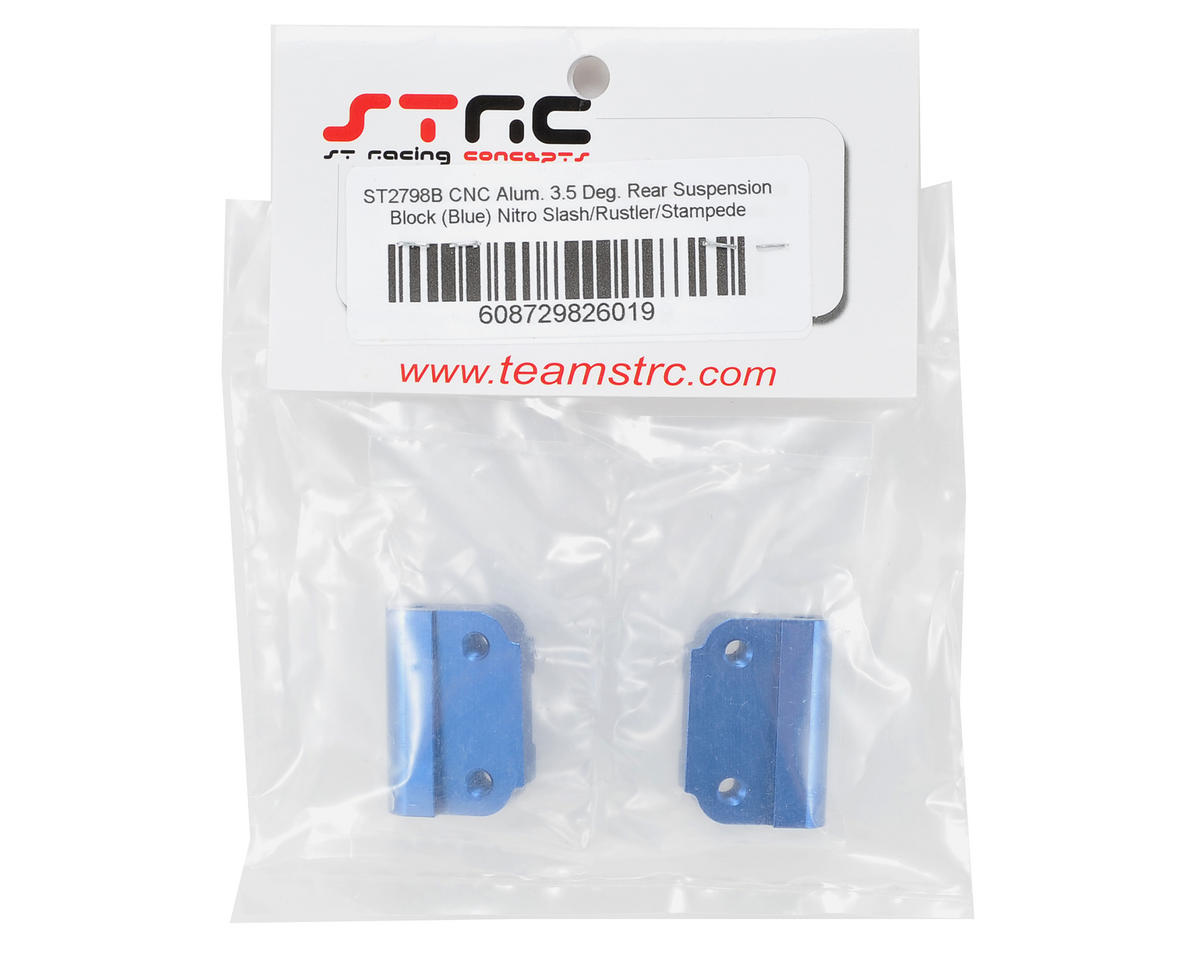ST Racing Concepts 3.5° Aluminum Rear Suspension Block Set (Blue) (2)