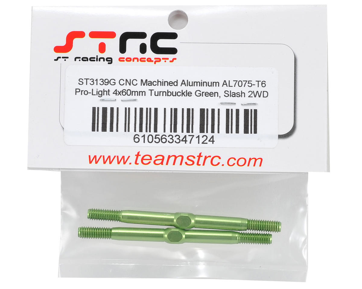 "ST Racing Concepts 4x60mm Aluminum ""Pro-Lite"" Turnbuckle Set (Green) (2)"