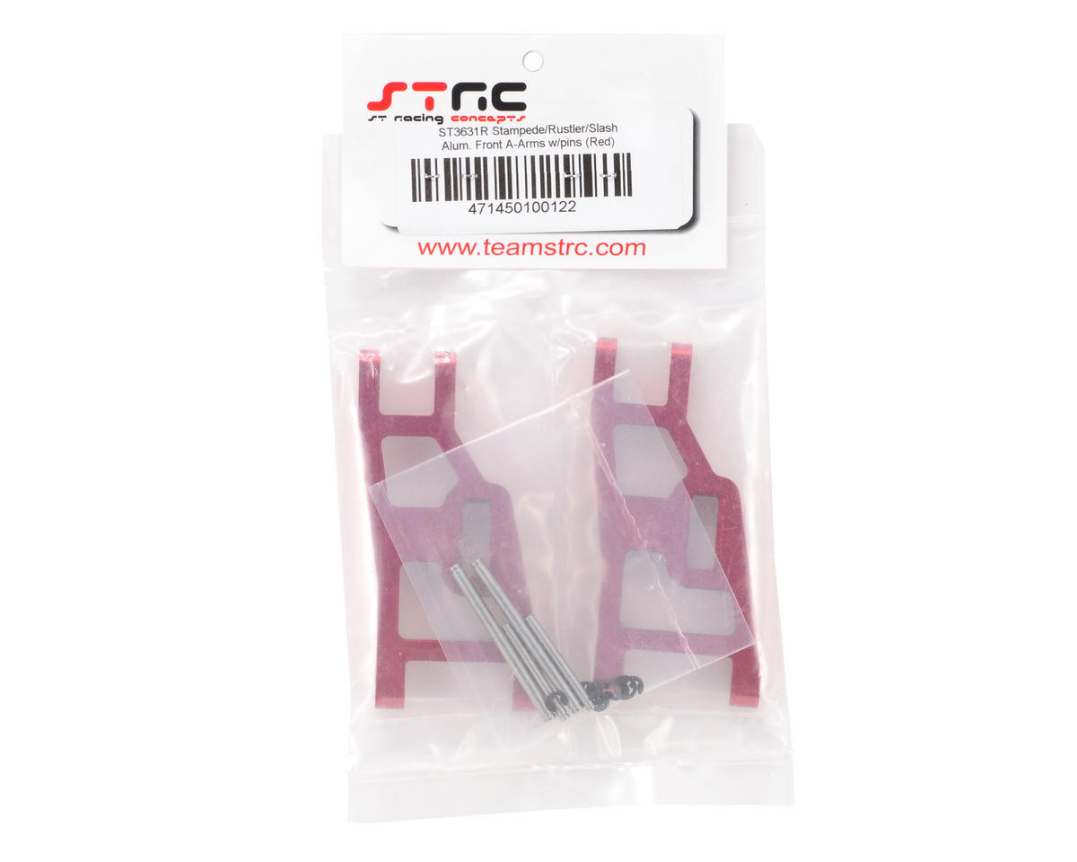 ST Racing Concepts Aluminum Front A-Arm Set (Red)