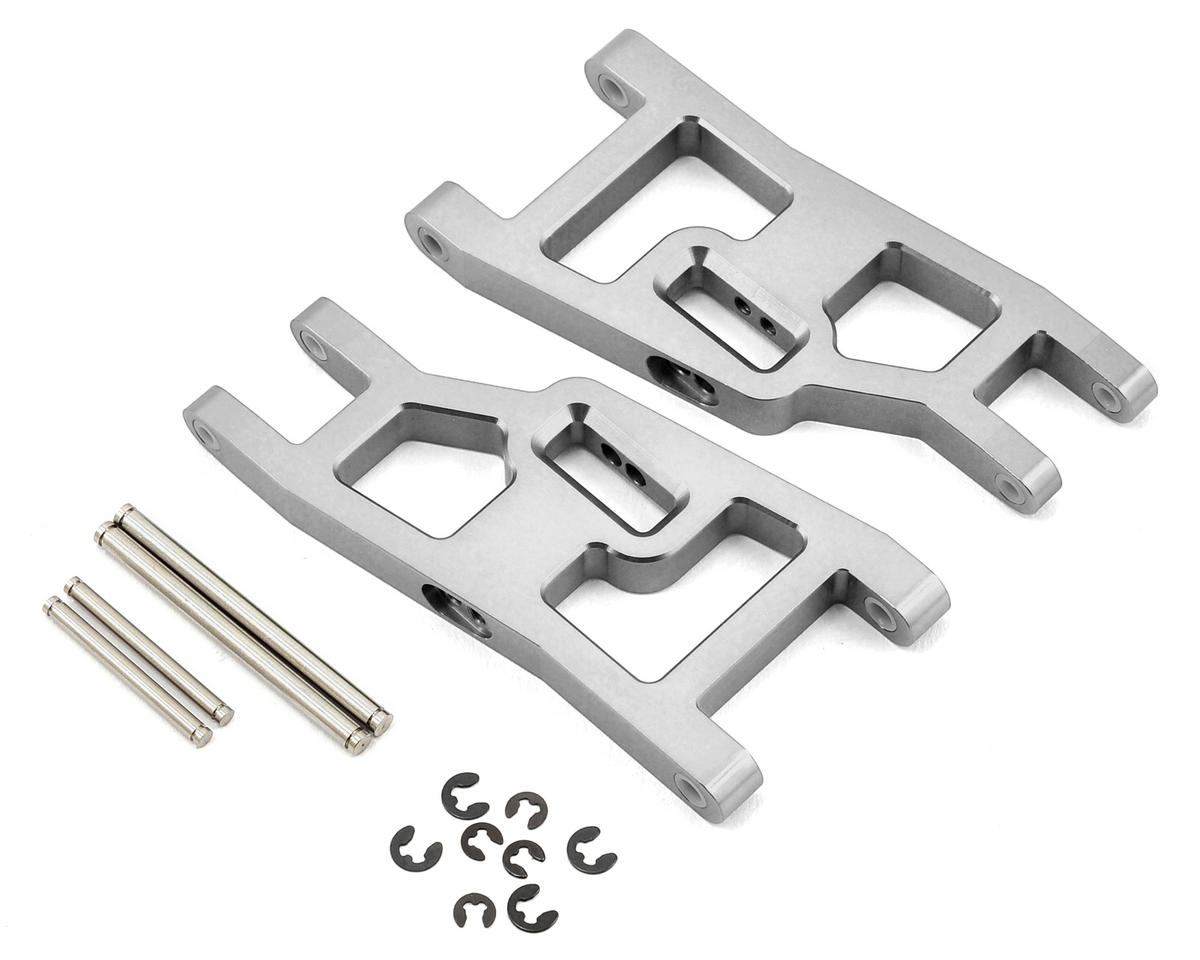 ST Racing Concepts Aluminum Front A-Arm Set (Silver) (Traxxas Nitro Slash)