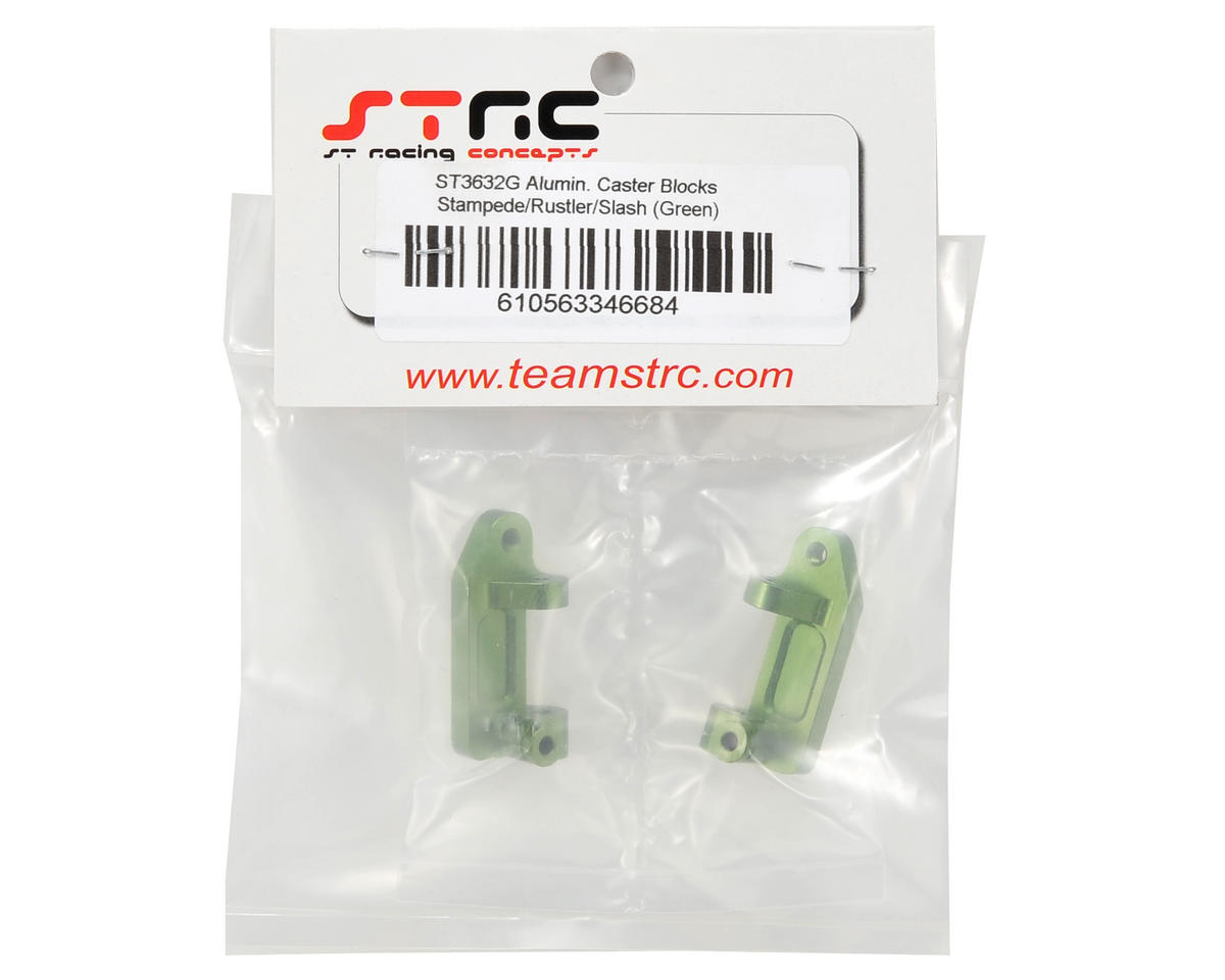 Aluminum Caster Blocks (Green) by ST Racing Concepts