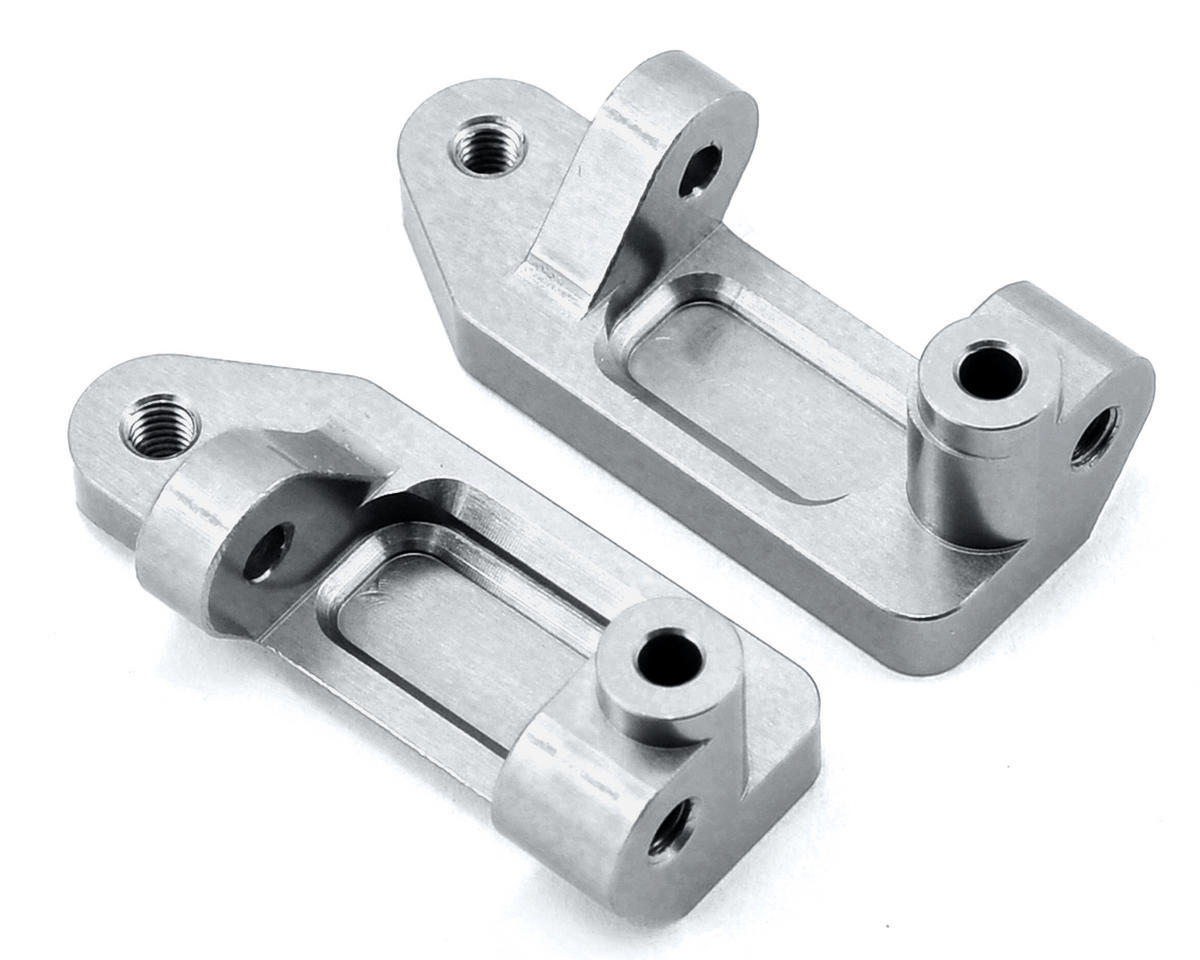 Aluminum Caster Blocks (Silver) by ST Racing Concepts