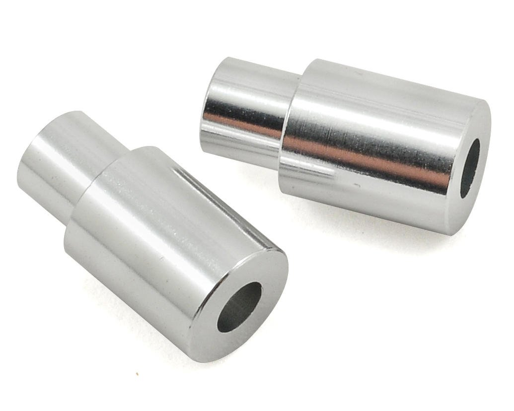 Aluminum Upper Front Shock Tower Mounts (Silver) (2) by ST Racing Concepts