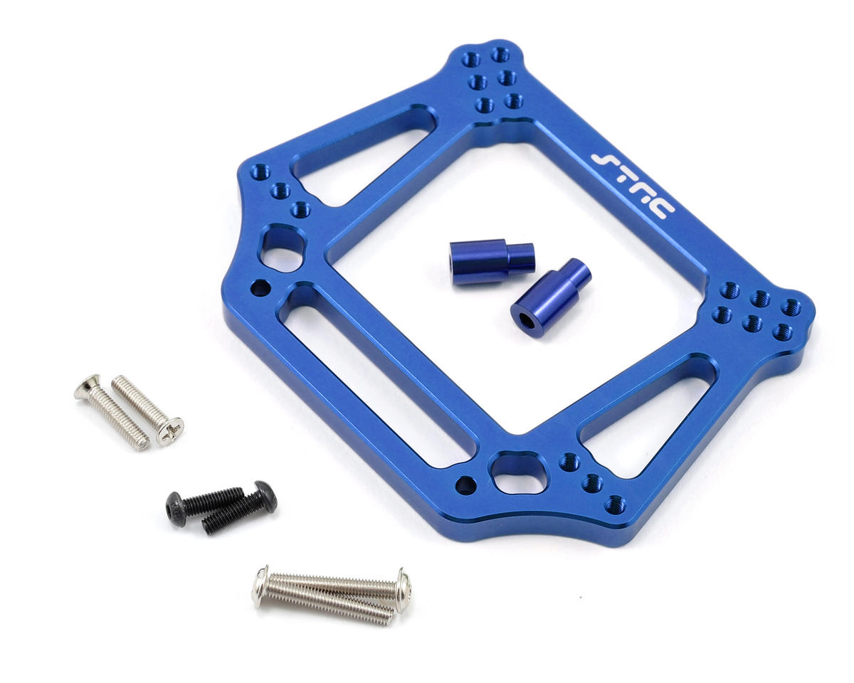 ST Racing Concepts 6mm Heavy Duty Front Shock Tower (Blue) (Traxxas Rustler)
