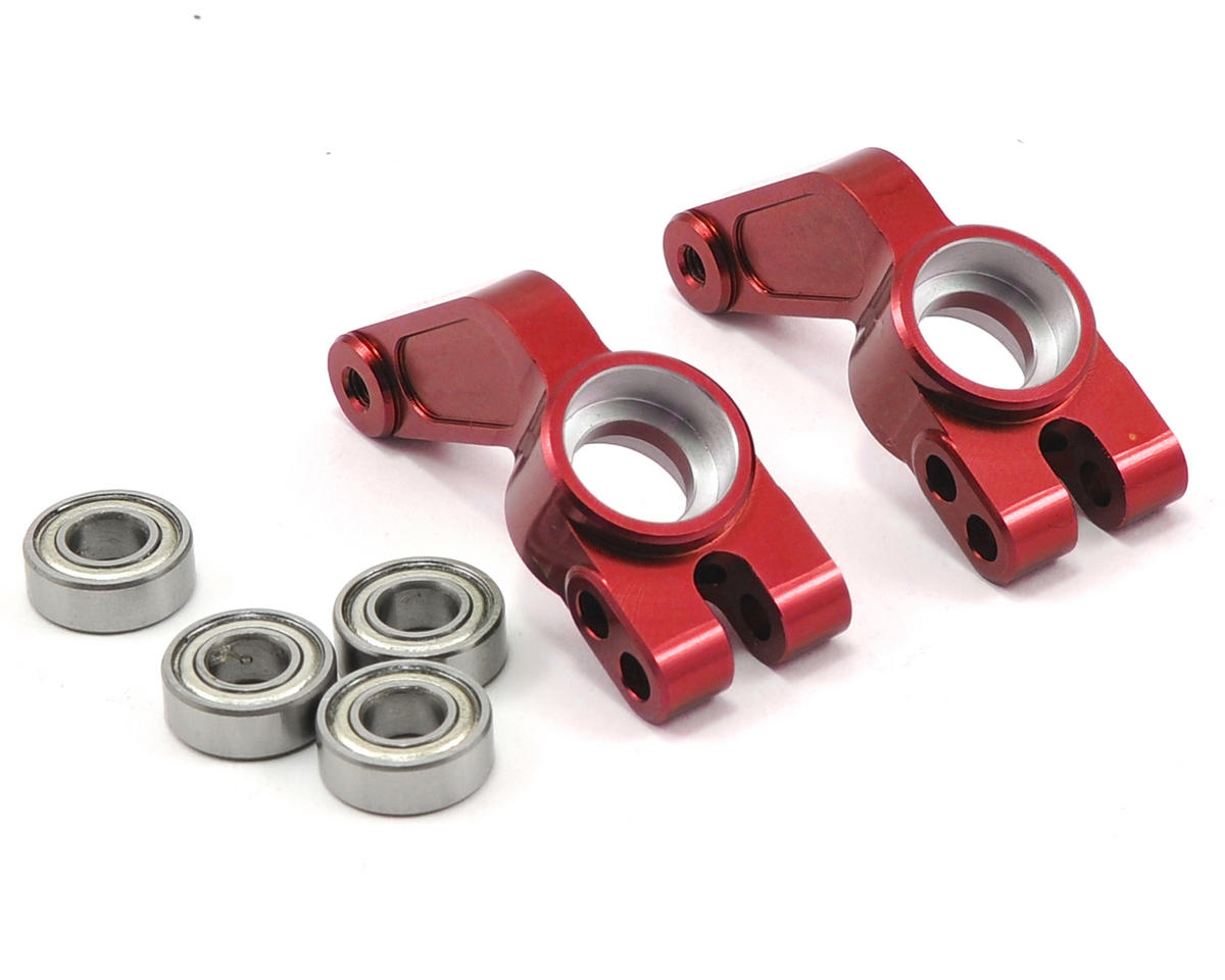 Oversized Rear Hub Carrier w/Bearings (Red) by ST Racing Concepts