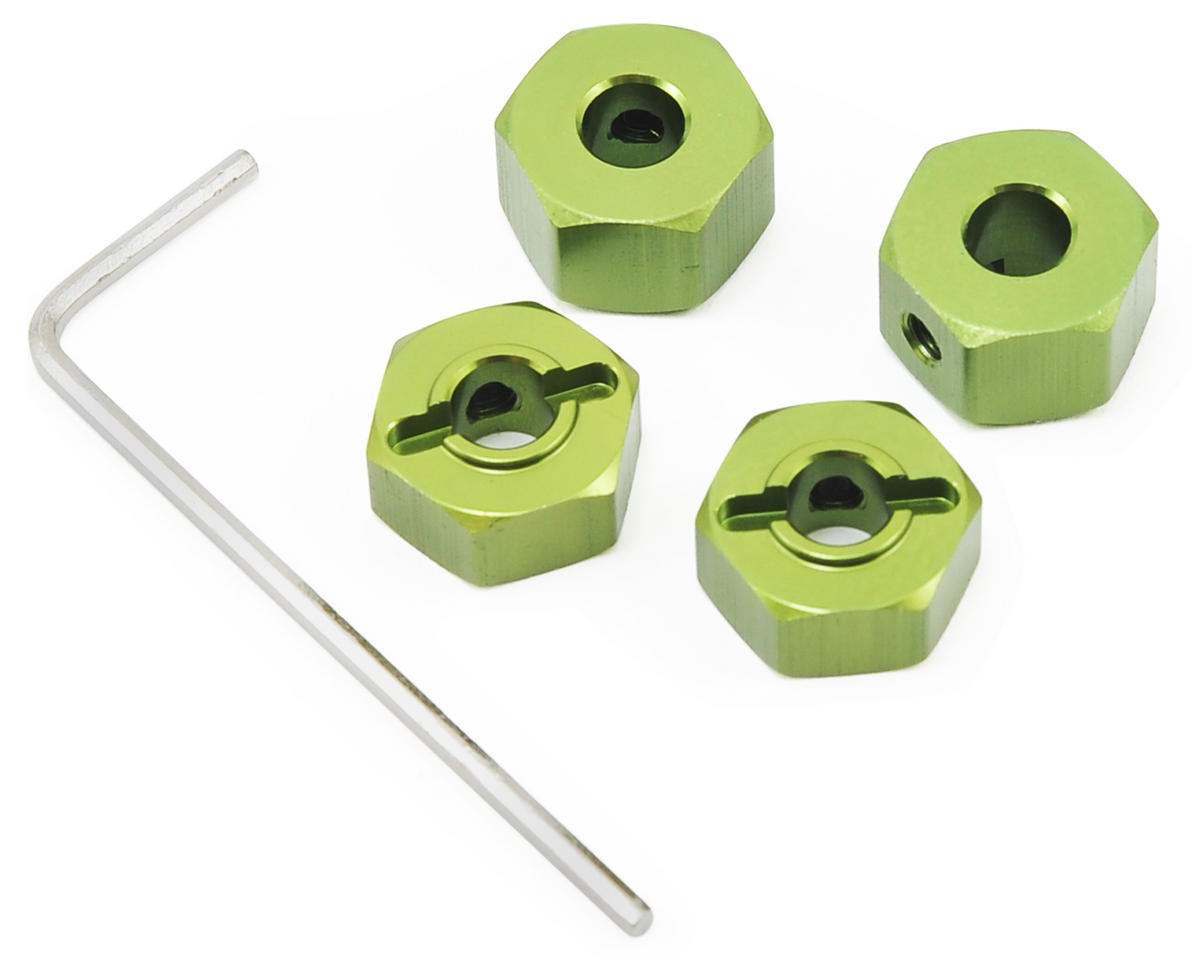 "ST Racing Concepts 12mm Aluminum ""Lock Pin Style"" Wheel Hex (Green)"