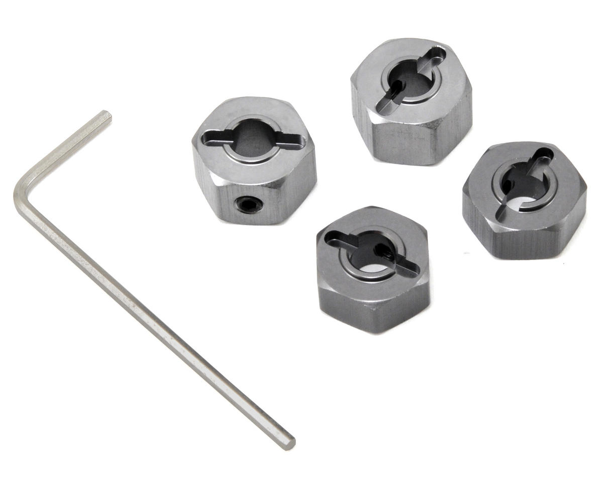 "ST Racing Concepts 12mm Aluminum ""Lock Pin Style"" Wheel Hex Set (Gun Metal) (4) (Traxxas Nitro Slash)"