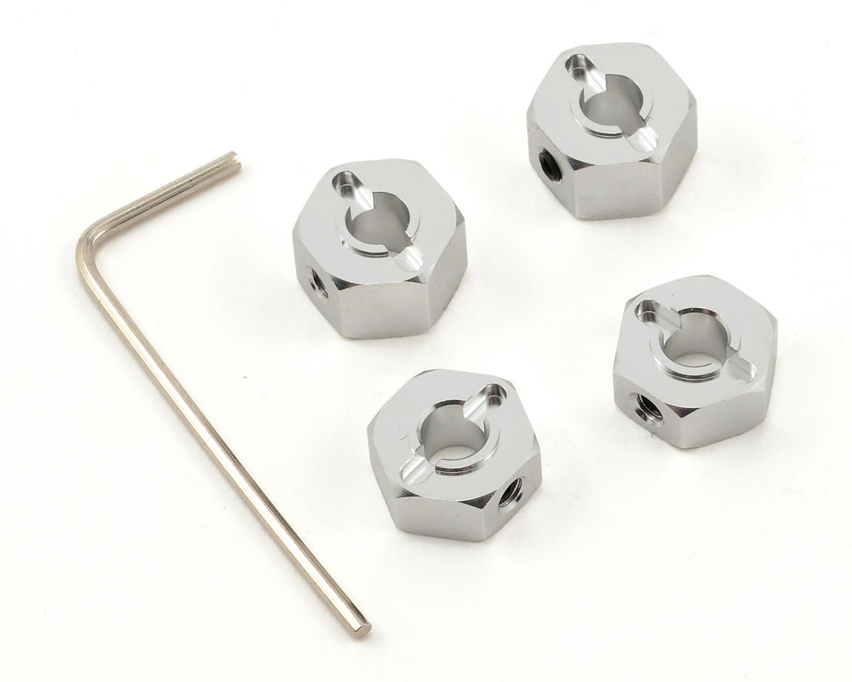 "ST Racing Concepts 12mm Aluminum ""Lock Pin Style"" Wheel Hex Set (Silver) (4)"