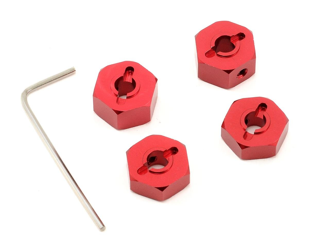 14mm Aluminum Wheel Hex (Red) (4) by ST Racing Concepts