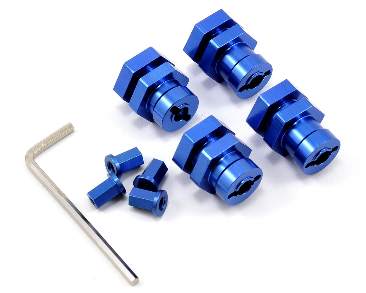 ST Racing Concepts 17mm Hex Hub Conversion Kit (Blue) (Traxxas Bandit)