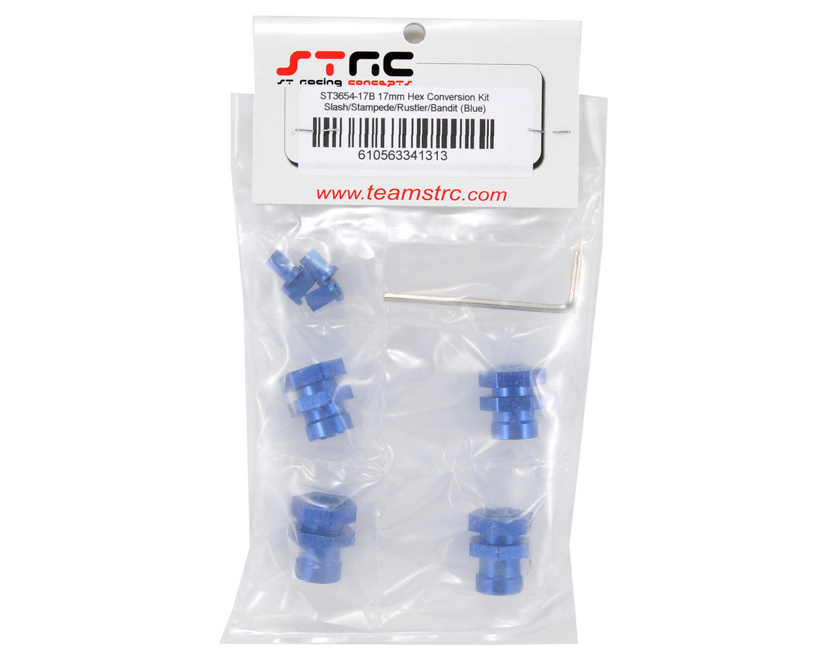 17mm Hex Hub Conversion Kit (Blue) by ST Racing Concepts
