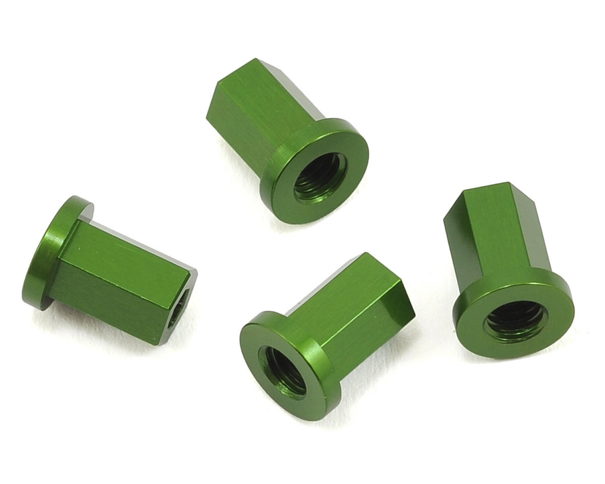 ST Racing Concepts Wraith Aluminum Internal Locknut (4) (Green)