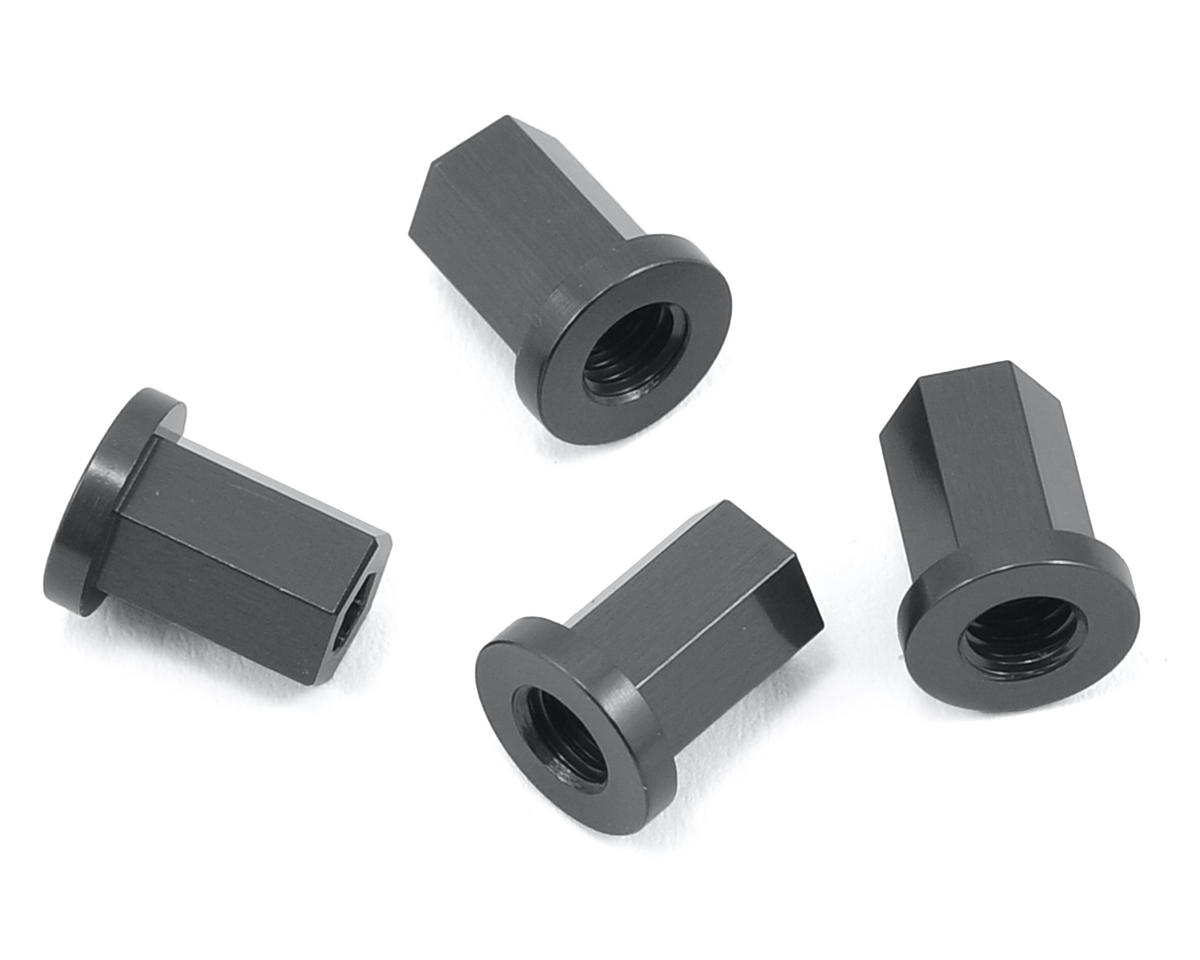 Wraith Aluminum Internal Locknut (4) (Gun Metal) by ST Racing Concepts