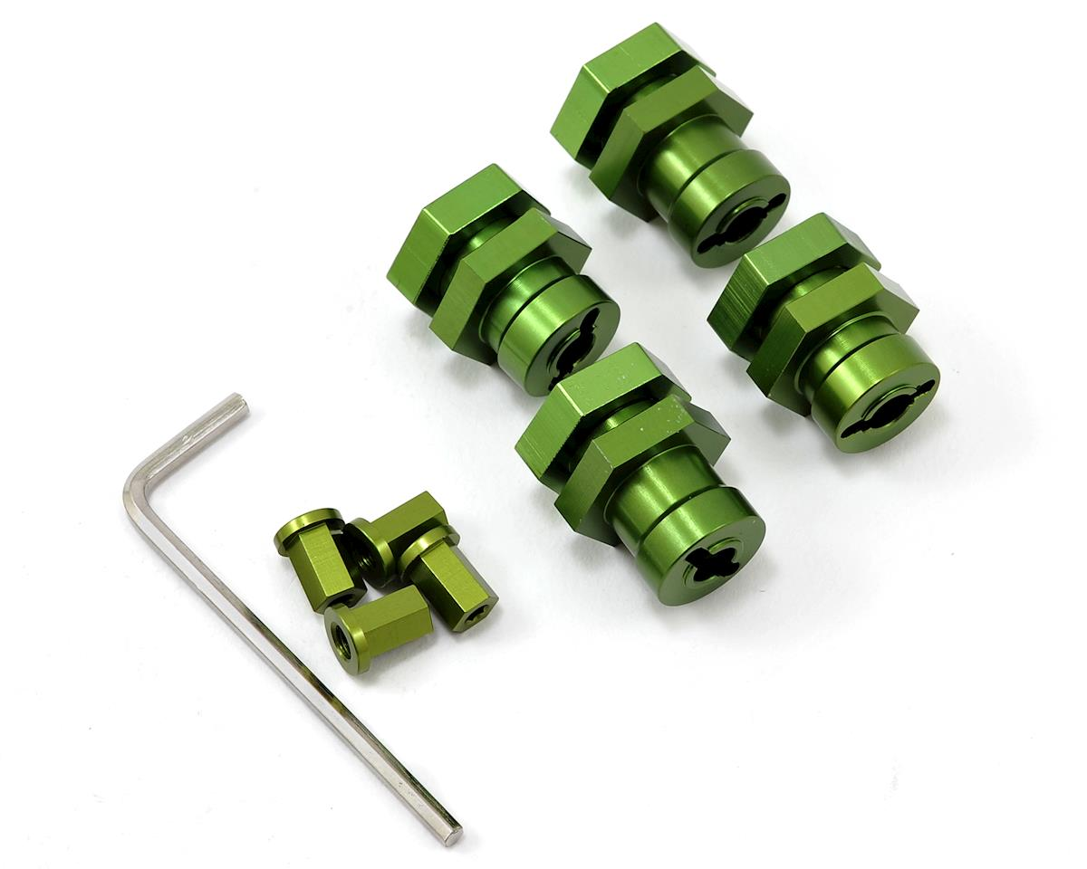 17mm Hex Hub Conversion Kit (Green) (4) by ST Racing Concepts