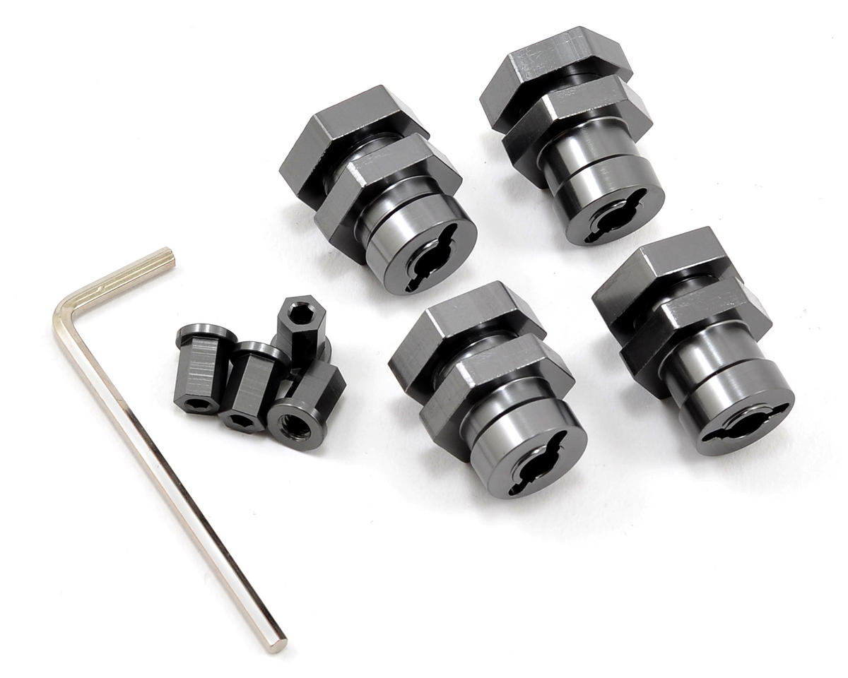 17mm Hex Hub Conversion Kit (Gun Metal) by ST Racing Concepts