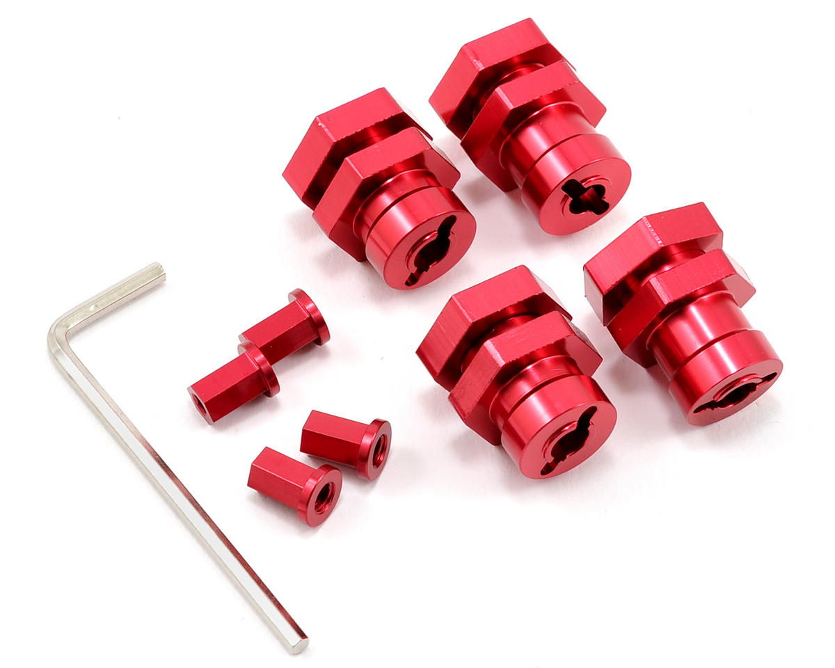 17mm Hex Hub Conversion Kit (Red) by ST Racing Concepts