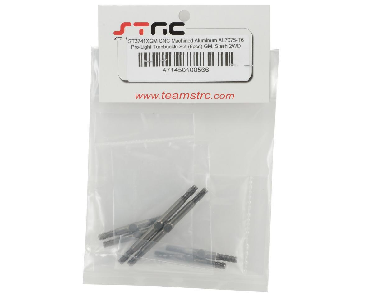 "ST Racing Concepts Aluminum ""Pro-Lite"" Turnbuckle Kit (Gun Metal) (6) (Slash)"