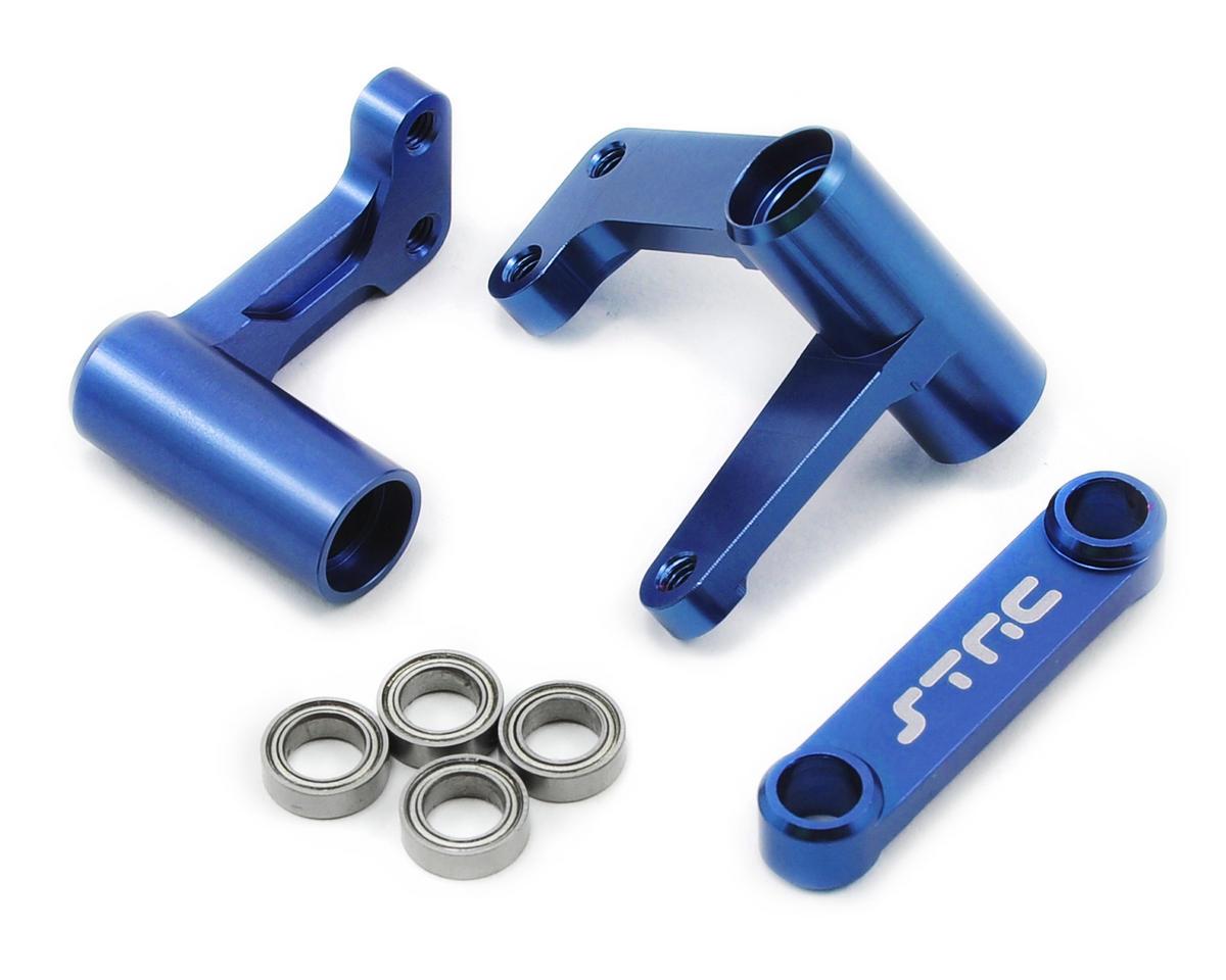 ST Racing Concepts Aluminum Steering Bellcrank Set (w/bearings) (Blue)