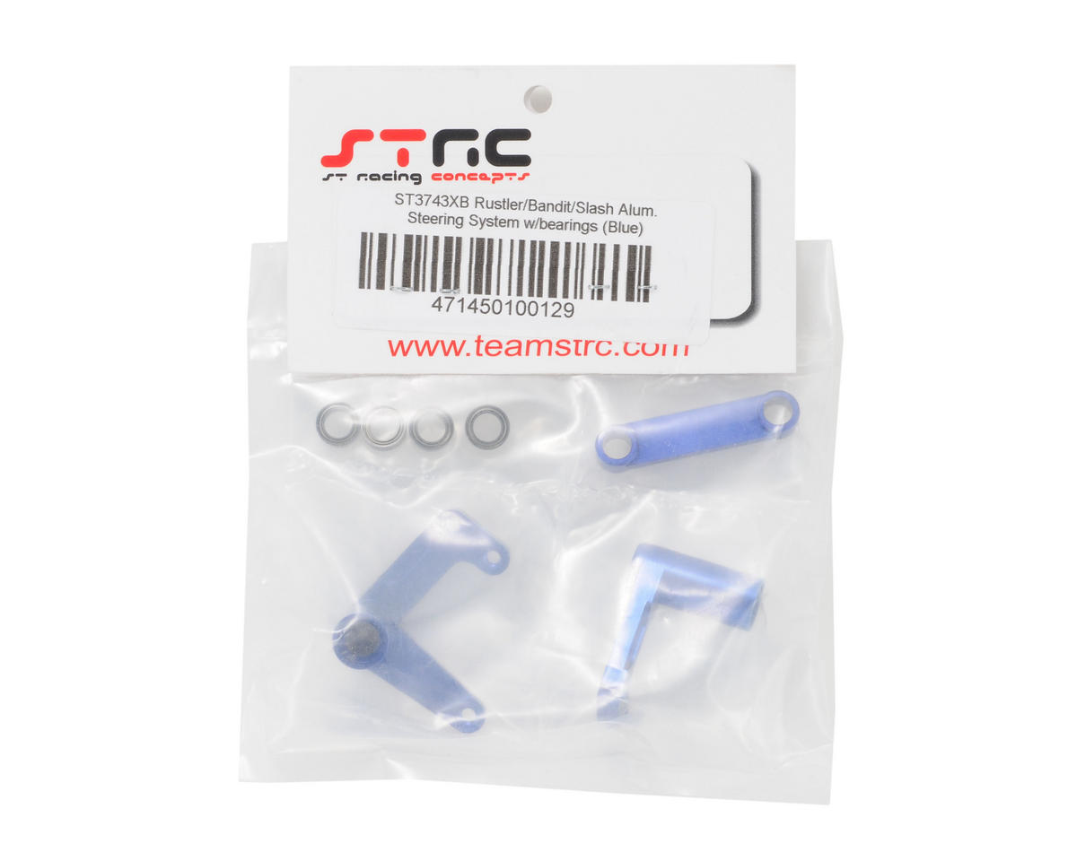 ST Racing Concepts Aluminum Steering Bellcrank Set (w/bearings) (Blue)