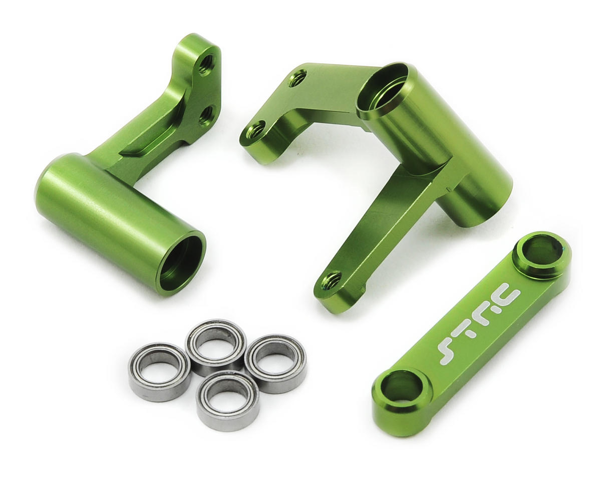 Aluminum Steering Bellcrank System w/Bearings (Green) by ST Racing Concepts