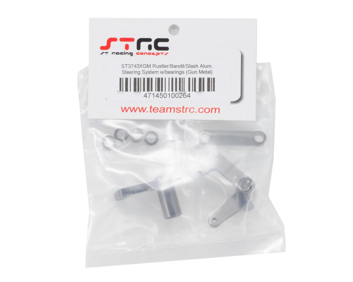 Image 2 for ST Racing Concepts Aluminum Steering Bellcrank Set (w/Bearings) (Gun Metal)