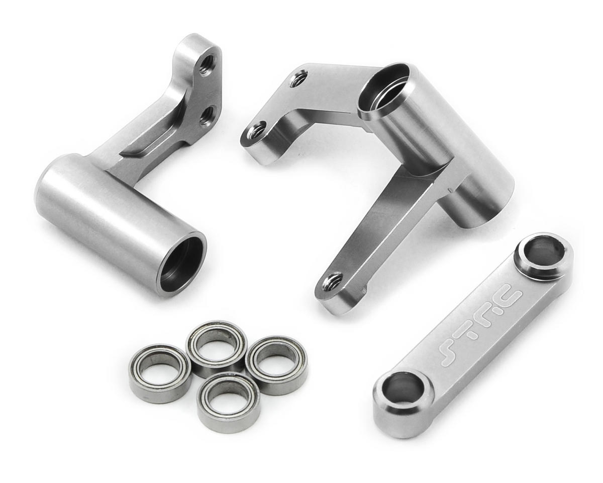 ST Racing Concepts Aluminum Steering Bellcrank Set (w/bearings) (Silver)